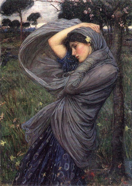 Boreas (1902) by John William Waterhouse