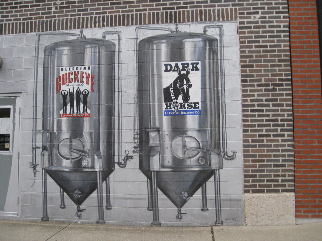 As seen on the way home on 4th Street - two of Elevator Brewery's best.