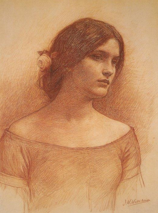 Studies of The Lady Clare (1900) by John William Waterhouse