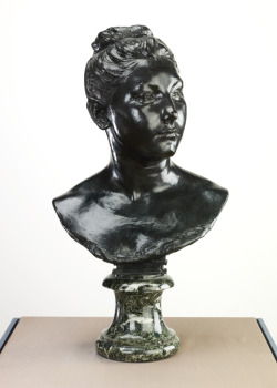 Bust of a Young Woman (Portrait of Mlle Gilardi), around 1885; cast 1890 Jules Dalou (French) Sculpture, bronze, 14.8 x 15.5 cm Gift of Mrs. R.Y. Eaton, 1964
