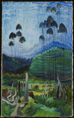Trees in the Sky, 1939 Emily Carr (Canadian) Painting, oil on canvas, 111.6 x 68.7 cm  Gift of Richard Ivey, 2008
