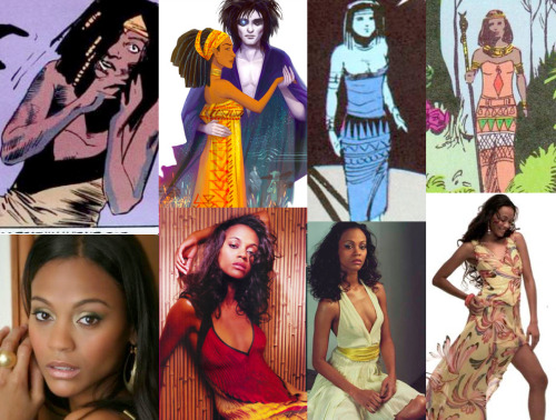 Neil Gaiman's The Sandman Fantasy Casting Nada- Zoe Saldana I went through tons of actresses looking for who to play Nada and no one fit the role better in my mind than Zoe Saldana, She's young, she's beautiful, she's strong. I can almost understand how Dream fell so in love with her in such a short amount of time.