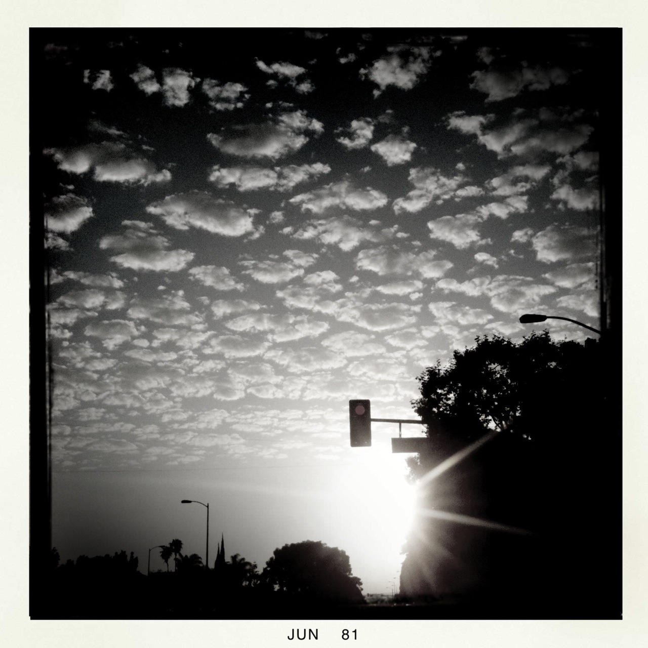 Marshmallow Skies Watts Lens, BlacKeys B+W Film, No Flash, Taken with Hipstamatic