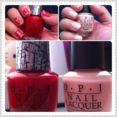 OPI Red Shatter & Hopelessly in Love