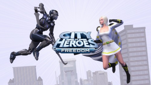 A female version of the official City of Heroes: Freedom artwork :-p