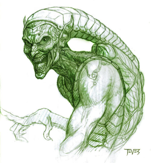 Original Green Goblin concept art for Spiderman the movie.
