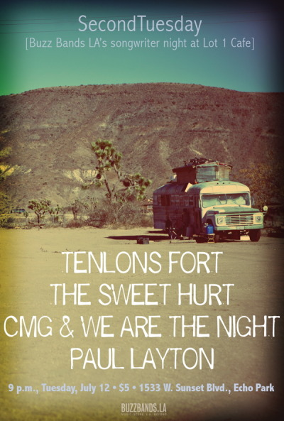 Tenlons Fort joins the Sweet Hurt, CMG & We Are the Night, Paul Layton at SecondTuesday at Lot 1.
