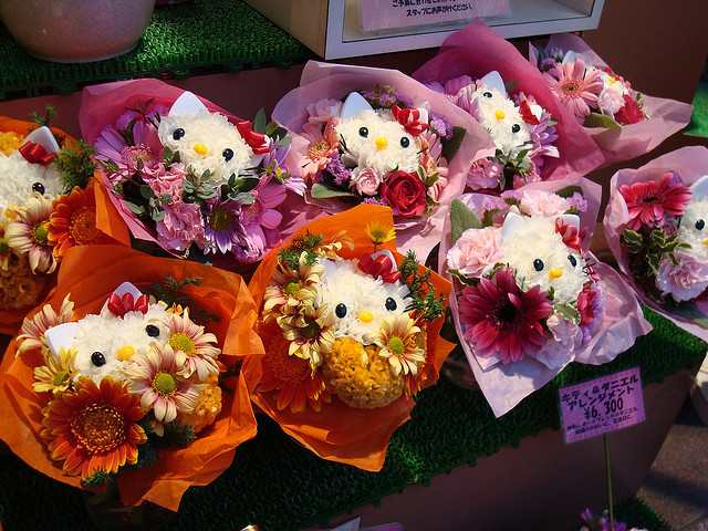 Hello Kitty flower arrangements by Catjerome on Flickr.