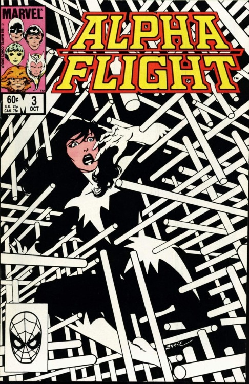 comicbookcovers:  Alpha Flight #3, October 1983, cover by John Byrne