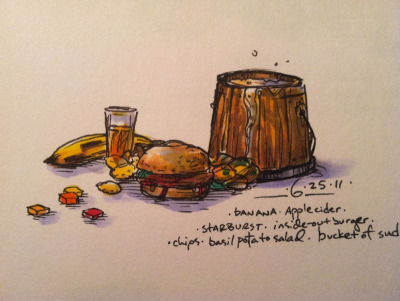 6/25/11 Inside-out burger/juicy lucy #doodlediet