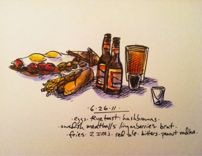 6/26/11 Swedish breakfast, bells #doodlediet