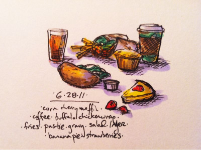 6/28/11 up nort pasties! #doodlediet