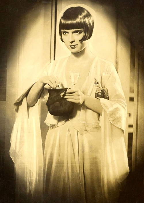"oldhollywood:  Louise Brooks in publicity still for Pandora's Box (1929, dir. G.W. Pabst) During the filming of Pandora's Box, [G.W. Pabst] asked Louise Brooks, as Lulu, just emerged from taking a shower and coming into the living room to greet her lover, Alva (portrayed by Franz Lederer), ""What do you have on under that robe?"" ""My slip,"" answered Miss Brooks. ""Go back in the bathroom and take it off,"" said Pabst, which she did.  When she returned, wearing just the robe, she asked her director, ""Mr. Pabst, why did you make me take my slip off? The audience won't know that I have nothing on under my bathrobe."" ""That's right,"" he replied. ""The audience won't know, but he'll know,"" he said, pointing at Lederer, ""and he'll play the scene with you differently, knowing that, than he would if he didn't know it. And that's what I want, that difference."" Miss Brooks told me this story and I think it underlines the point I'm trying to make that the director must do everything he can think of to feel that the scene is ready to be played to the maximum that he can feel. If he feels it, the audience will feel it. Ergo - the director as psychologist."" -Herman G. Weinberg, excerpted from The Complete Wedding March (1975)"