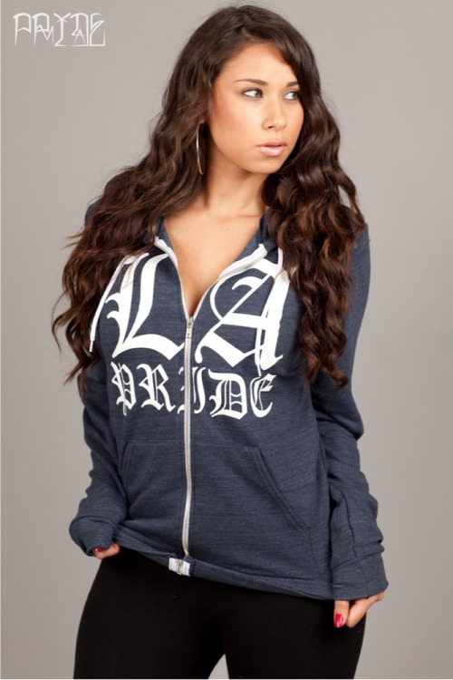 LA Pride zip up - navy heather