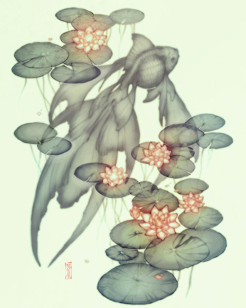 lotus lullaby. by =GunnerRomantic