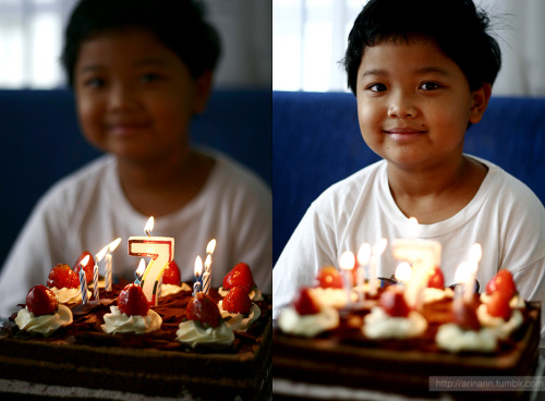 The birthday boy ^_^ Today (6/30) is his 7th birthday. ♥♥ Wishing you a big-bright future ahead, baby ♥♥