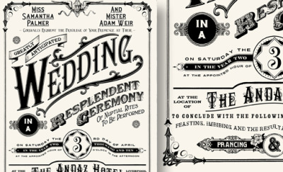 50 Examples of Wonderfully Designed Wedding Invitations | Design Shack  > 美しくデザインされた結婚式の招待状50