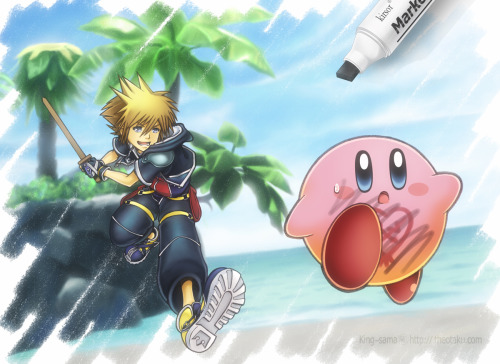 """kingdom hearts x kirby"""
