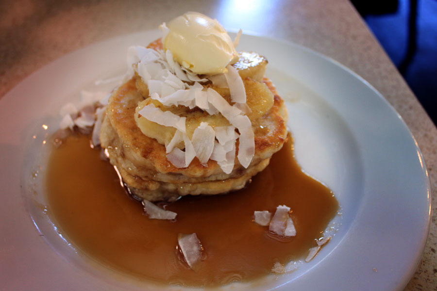 Banana and maple syrup pancakes from Brasserie Bread.  I'm craving some muffins right now. Mmm. Boo being sick and having a selective appetite.