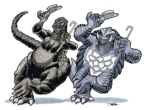 silvaniart:  Godzilla vs. Gamera- The Dance Off!