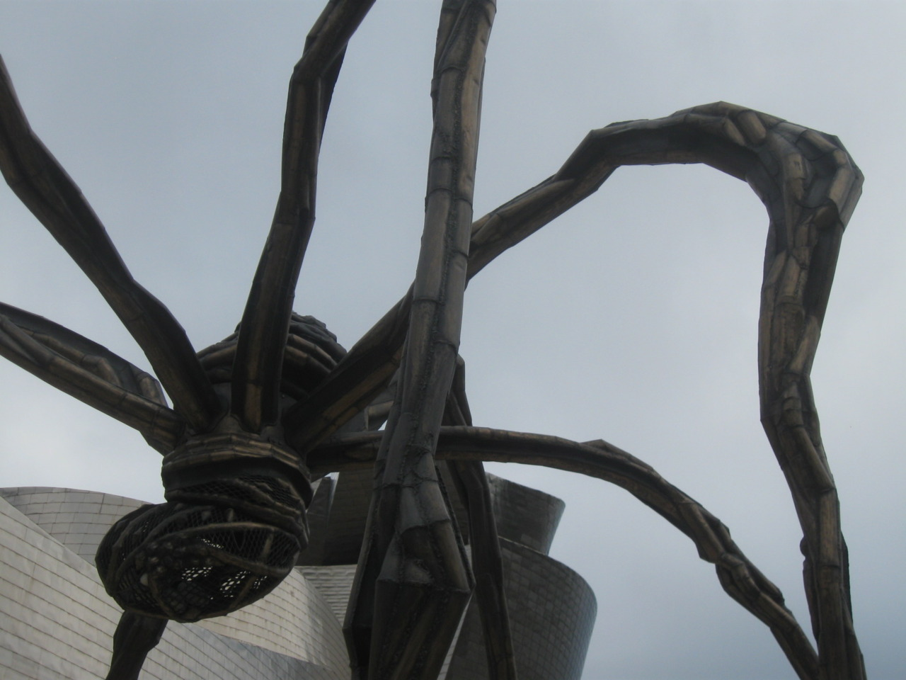 July 2009. Maman by Louise Bourgeois sitting outside of the Guggenheim Museum in Bilbao. Bilbao, Biscay, Spain.