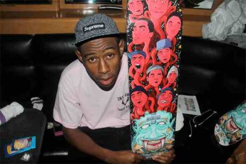 kidstate0fmind:  Tyler Customized OFWGKTA Skateboard