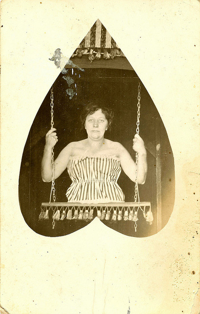 mirtleness:  Vintage Sideshow - The Half Girl by WonderfullyStrange on Flickr.