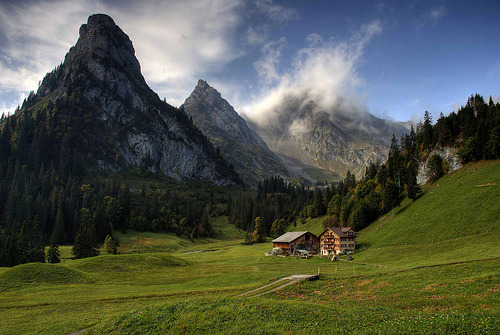 Switzerland: Mountain Farm (by Tim Blessed)