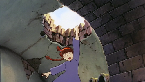 Sheeta falling, Studio Ghibli's Laputa: Castle in the Sky