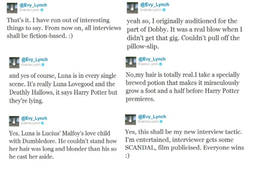 Did I mention I love Evanna Lynch?