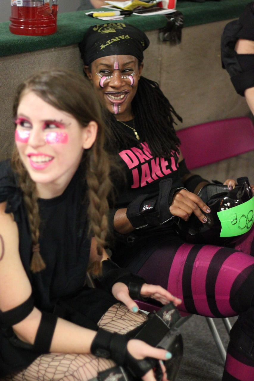 Bangarang and DiNAh Might hanging out on the sidelines.  Photo: James Bennett