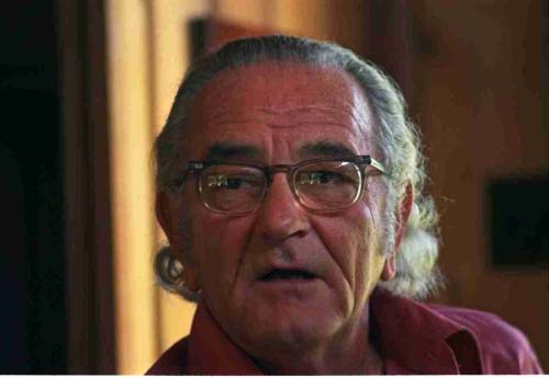 LBJ with long hair.  By request.  August 19, 1972 at the LBJ Ranch near Stonewall, Texas.  From the Johnson Presidential Library Photo Archive. -via the Johnson Presidential Library and Museum on Facebook
