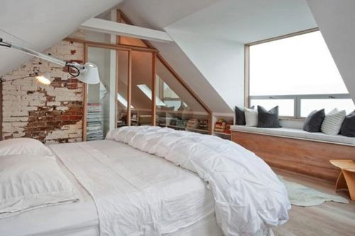Bright attic bedroom