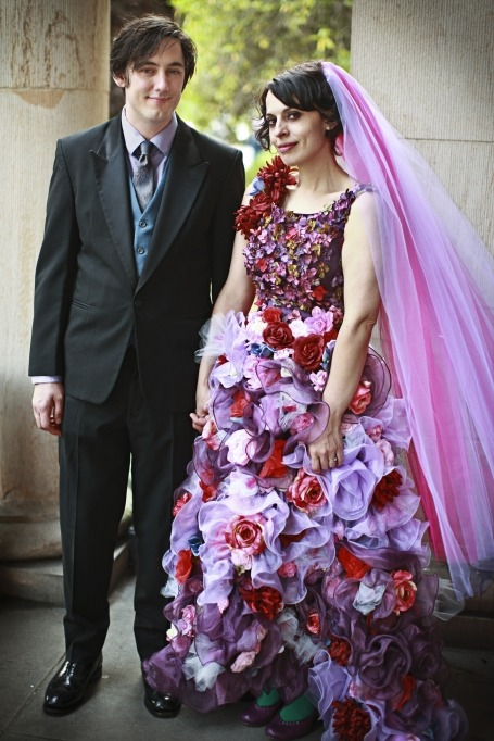 Automne and Graham.  I am in awe of this dress.