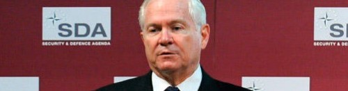 "Today is Robert Gates' last day at the Pentagon. *sniff*: We're sitting in this coffee shop, blaring Boyz II Men's ""It's So Hard to Say Goodbye To Yesterday"" from our tinny MacBook speakers. And crying. We're getting weird looks, but WE DON'T CARE! source Follow ShortFormBlog"