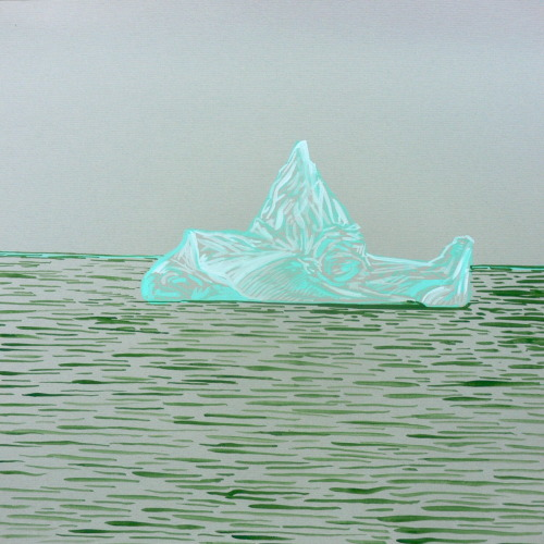 Jeff Julian needed a drawing of the iceberg that sunk the Titanic. Gouache, 12x12 in.