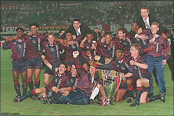 Ajax of 1995. This side included: Edwin Van Der Saar, Clarence Seedorf, Patrick Kluivert, Nwankwo Kanu, Mark Overmars, Frank and Ronald De Boer, Jari Litmanen, Frank Rijkaard, Micheal Reiziger, Finidi George, Danny Blind and Edgar Davids. What a role call.