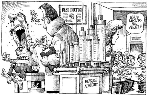 theeconomist:  KAL's cartoon: this week, a bitter pill