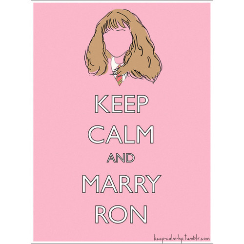 keepcalmordont:  Keep Calm and Marry Ron! (clipped to polyvore.com)