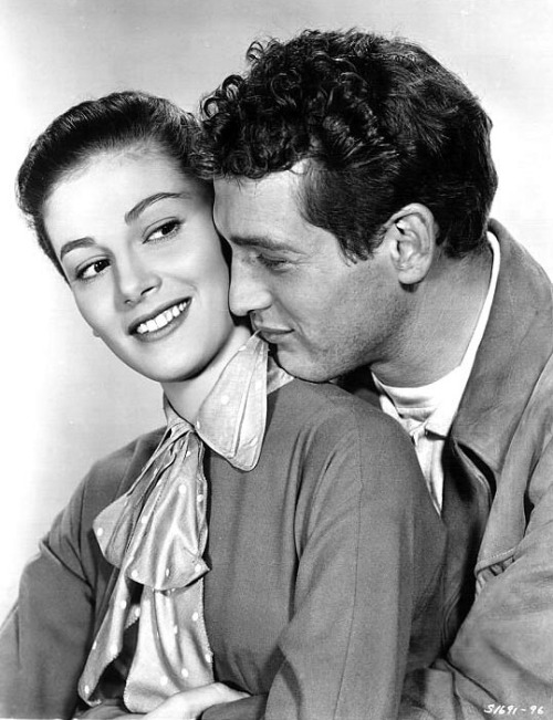 Paul Newman and Pier Angeli in Somebody Up There Likes Me [1956]