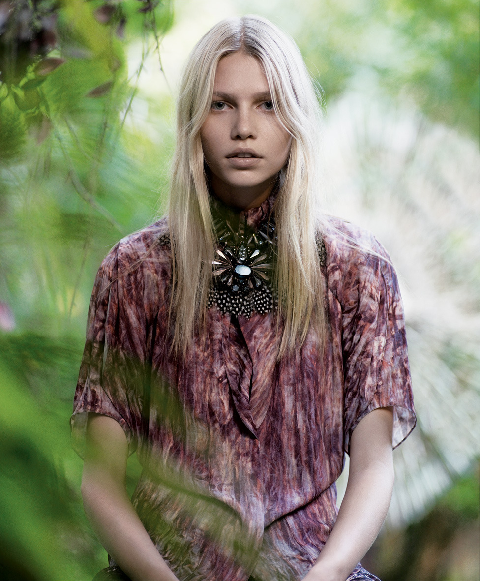 tmagazine:  Aline Weber in flowy hippie gear from our 2008 Women's Fashion issue. Photograph by Mark Segal. Styled by Alister Mackie.