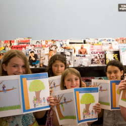 Santa Cruz sixth graders publish their own magazine:  Tangerine Moon Sixth grade girls, write, design, publish, and now sell their own magazine Tangerine Moon  in Santa Cruz, California.  The staff has a Facebook page set up and Bookshop Santa Cruz is currently selling their magazine.  Want to read more? Good Times magazine in Santa Cruz wrote an inspiring article about this project.  This story renewed the confident and joy art and creation can instill in children that will last a lifetime.