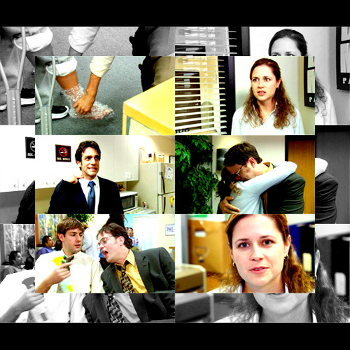 "6 caps meme | The Office 2x12 ""The Injury"" 