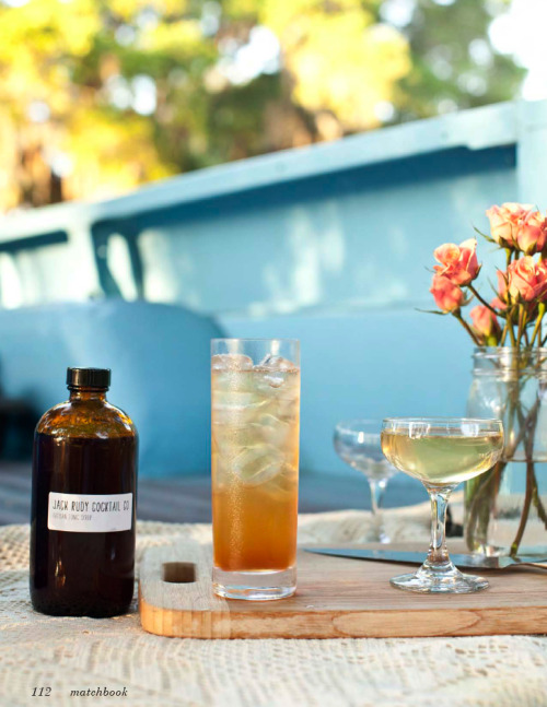 matchbookmag:  Cool summer cocktails from Jack Rudy Cocktail Company (Photograph by Ben Williams)