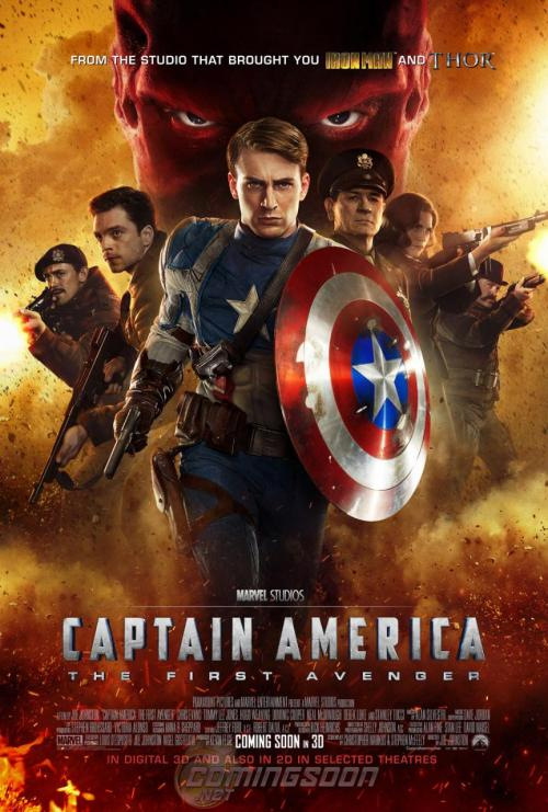 nerdcandy:  New 'CAPTAIN AMERICA: THE FIRST AVENGER' International Poster