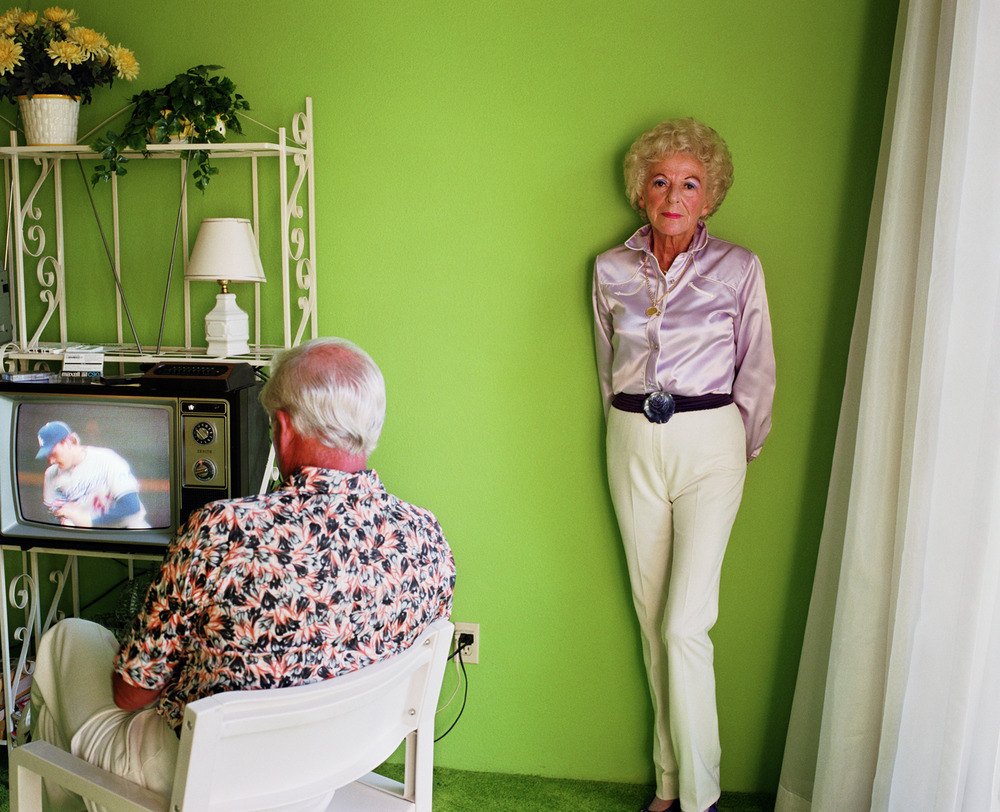 "Larry Sultan ""My Mom Posing for Me, Palm Springs"" (1984). from ""Pictures from Home"""