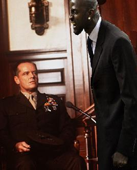 Kevin Garnett starts his first day as a lawyer wanting to know who ordered the Code Red on Santiago… #nbalockout #nbalockoutjobs