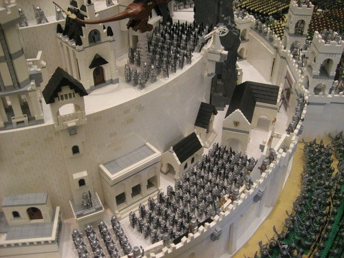 Minas Tirith, created in Lego.