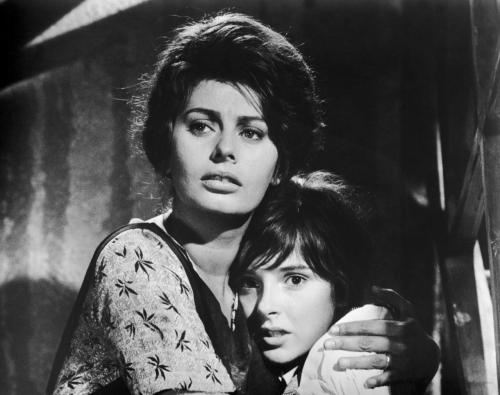 theglamourage:  Sophia Loren and Eleonora Brown in Two Women.
