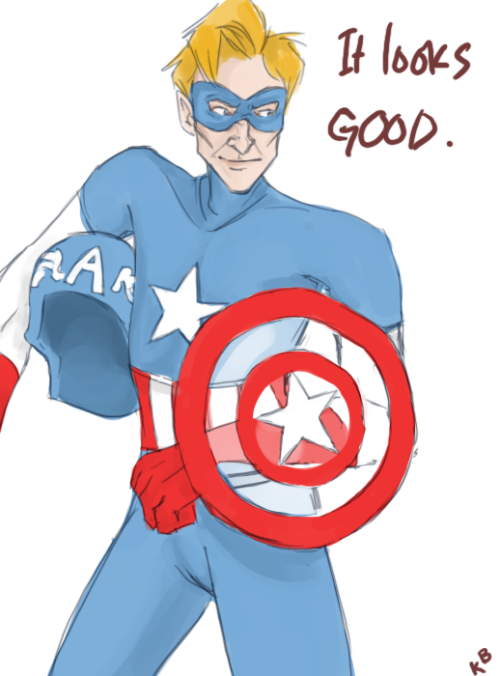 evidence-of-my-insanity:  Conan O'Brien as Captain America.